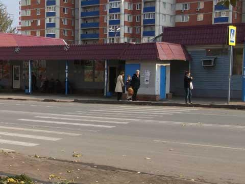 """Пешеходный переход у остановки """"Горизонт"""" - частичная доступность"""